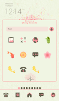 Screenshot of blooming cherry blossoms dodol
