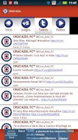 Screenshot of Cruz Azul SDM
