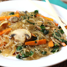 Jap Chae/Chap Chae - Korean Glass Noodles with Vegetables