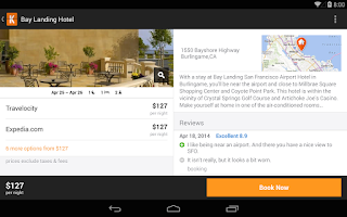 Screenshot of KAYAK Flights, Hotels & Cars