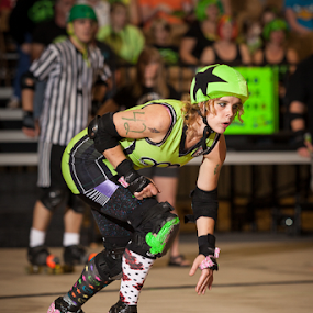 HellaKitty by John Edwin May - Sports & Fitness Other Sports ( knoxville, tennessee, hard knox roller girls, flat track, hkrg08272011,  )