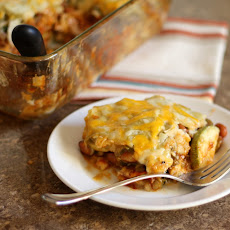 Calabacita Enchiladas with Red and Green Chile