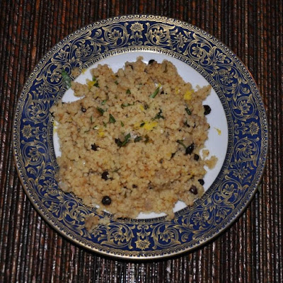 Couscous with Coriander, Lemon and Currants (for Stuffing a Chicken or Not, as You Please)