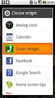 Screenshot of Dialer Widget