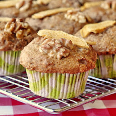 No Added Fat Apple Walnut Muffins