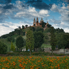 Cholula by Cristobal Garciaferro Rubio - Landscapes Travel ( flowersfield, cholula, mexico, puebla )