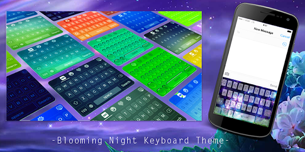 App Blooming Night Keyboard Theme APK for Windows Phone