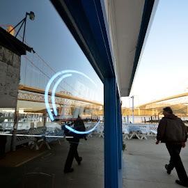 The Nantucket Restaurant, Crocket, California by Greg Koehlmoos - City,  Street & Park  Markets & Shops ( window reflections, crocket, glass reflections, carquinez bridge, crocket california, the nantucket restaurant,  )