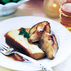 Maple Crème Flan with Maple-Glazed Pears