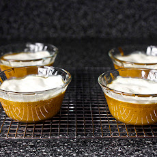 Pumpkin and Sour Cream Puddings