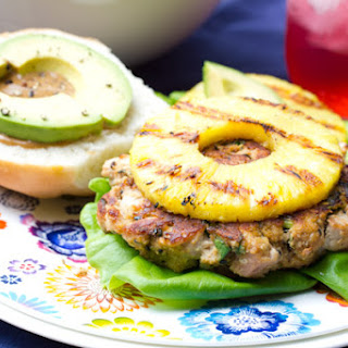 Ahi Tuna Burgers with Grilled Pineapple