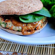 Thai Turkey Burgers with Peanut Sauce