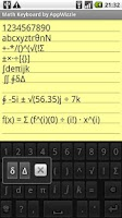Screenshot of Math Keyboard