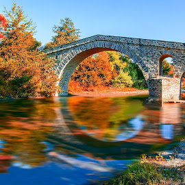 Вridge Zakas by Teodora Ivanova - Landscapes Waterscapes ( autumn, bridge, landscape, river )
