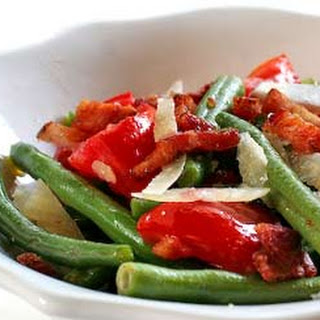 Warm Green Bean and Pancetta Salad