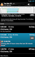 Screenshot of BigRoad Free Trucker Log Books