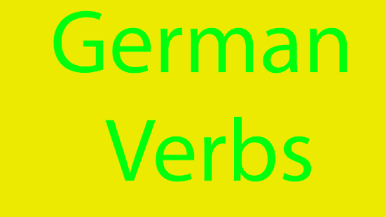 German Verbs - screenshot