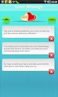 Screenshot of Love message