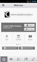 Screenshot of Faith Center