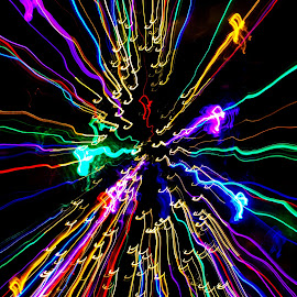 Music Blur  by Eric Tanner - Abstract Light Painting ( music, red, purple, blue, green, zoom, yellow, blur, music notes, mood, mood factory, holiday, christmas, hanukkah, lights, artifical, lighting, colors, Kwanzaa, black, celebrate, tis the season, festive, trance, spy,  )