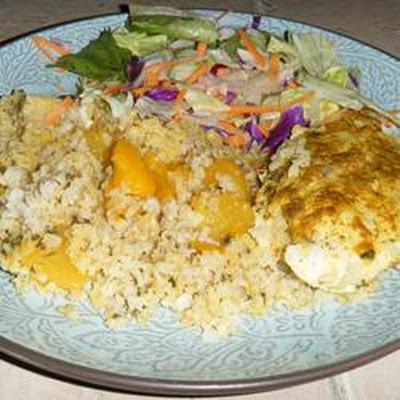 Curried Chicken with Mango Rice