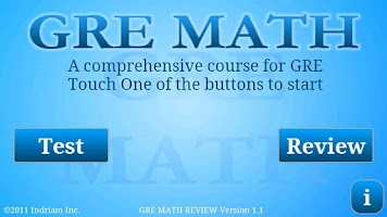 Screenshot of GRE Math Review