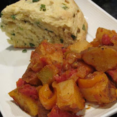 Friggione (A Side Dish of Potatoes & Tomatoes & Peppers)