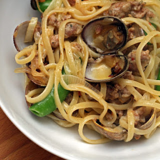 Stephanie Izard's Manila Clam and Sausage Linguine
