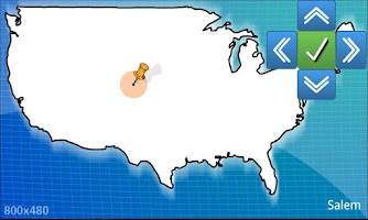 Screenshot of USA geography map quiz - BETA