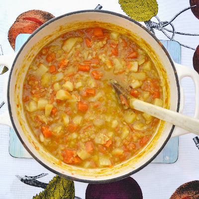 Parsnip, Carrot and Lentil Soup