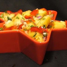 Spicy Grilled Pineapple Salsa With Ginger and Jalapenos