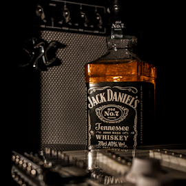 Jack Daniel's Blues by Francesca Delbianco - Food & Drink Alcohol & Drinks ( beverage, whiskey, marketing, alcohol, drink, advertising, tennessee, guitar, electricguitar, jackdaniels )