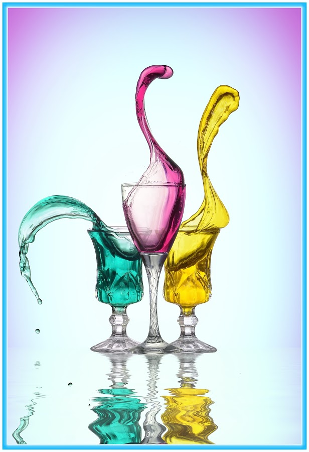 movement of water by Mohamed Mahdy - Digital Art Things ( #action #color #colors #cup #glass #movement #speed #still #water,  )
