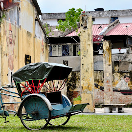 The Old Trishaw by George Lai - Transportation Bicycles