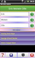 Screenshot of Barnnamn