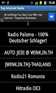 Top International Radio's - screenshot