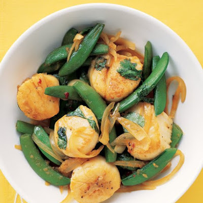 Scallops and Snap Peas