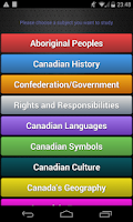 Screenshot of Canadian Citizenship Test Pro
