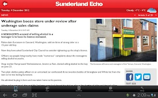 Screenshot of Sunderland Echo