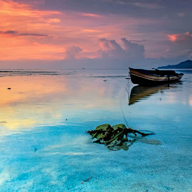 My Boat in the Morning by Fahrul Ibn Walid Mahigan - Landscapes Sunsets & Sunrises (  )