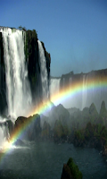 Screenshot of Waterfall & Rainbow Wallpaper