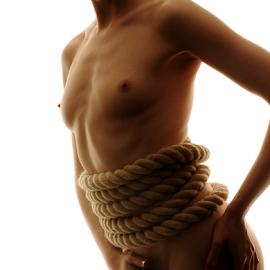 Rope by Vineet Johri - Nudes & Boudoir Artistic Nude ( anita de bauch, rope, art nude lighitng workshop lodon, silhouette, vkumar photography )