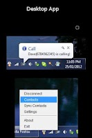 Screenshot of SMS & Call From PC