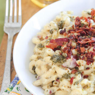 Bacon Pesto Homemade Mac and Cheese