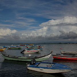 Boats on the river by Ana Silva - Transportation Boats (  )