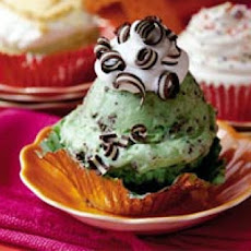 Mint-Chocolate Chip Ice-cream Cupcakes
