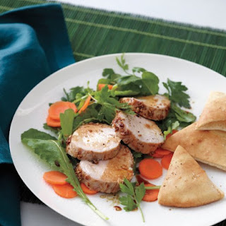 Fennel-Crusted Pork Tenderloin with Crisp Pita