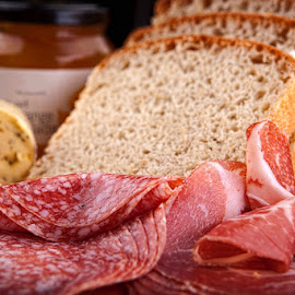 Meat selection by Eitel Bock - Food & Drink Meats & Cheeses ( food, bread, sliced, meat, food photography )