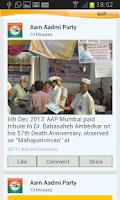 Screenshot of Aam Aadmi Party(AAP)