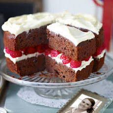 Jo Wheatley's Raspberry red velvet cake